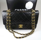 CHANEL TIMELESS CLASSIC BAG SCHWARZ HARDWARE IN GOLD