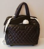CHANEL TROLLEY COCOON BAG IN BLACK