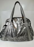 CHANEL BAG SHOPPER IN SILBER MIT CHANEL  LOGO