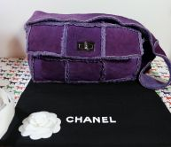 CHANEL BAG FLAP in LAMMLEDER RUTHENIUM HARDWARE