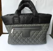 CHANEL COCCON BAG  SHOPPER GRAY/ BLACK LARGE