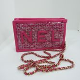 CHANEL IPHONE BAGPINK PVC BOUCLEGOLD HARDWARE