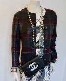 CHANEL WALLET ON CHAIN LAMSKINLEDER SCHWARZ SILBER CC