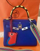 HERMÉS KELLY RETOURNÉ 28 AU GALOP BLUE ELECTRIC TOGO PALLADIUM  HARDWARE