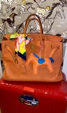 HERMÉS BIRKIN BAG 40 ORANGE TOGO GOLD HARDWARE