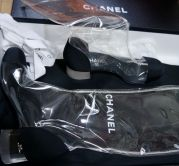 CHANEL STIEFEL PVC CLEAR