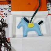 HERMÉS CHARM RODEO MM IN MILO BLUE ATOLL