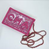 CHANEL IPHONE BAG PINK PVC BOUCLE GOLD HARDWARE