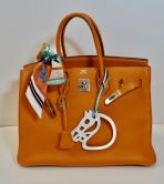 HERMÉS BIRKIN BAG 35 ORANGE TOGO PALLADIUM HARDWARE