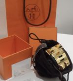 HERMÉS COLLIEN DE CHIEN ARMBAND BLACK BOX LEDERROSE GOLD HARDWARE